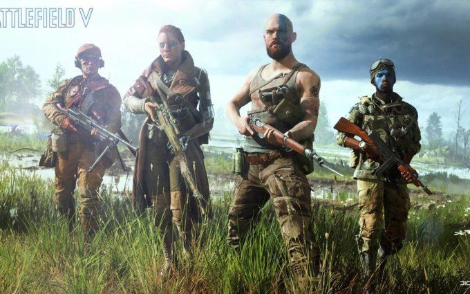 Battlefield 5 Team Desktop Background