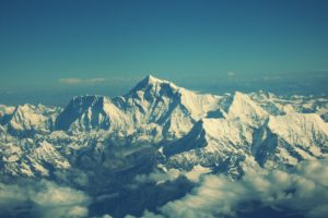Everest Mountain Sky Tops Desktop Background