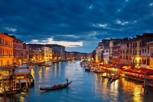 Italy Venice Gondolas River Desktop Background