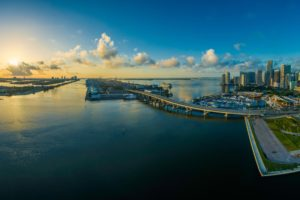 Miami Florida Water Panorama