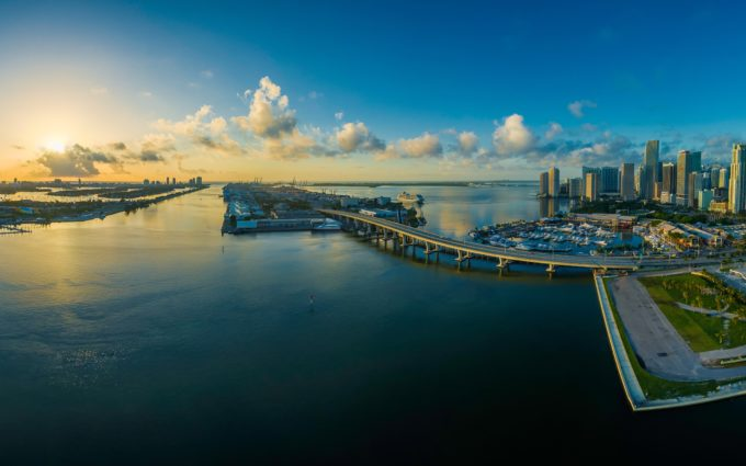Miami Florida Water Panorama