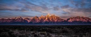 Mountain Teton Range Peaks Panorama