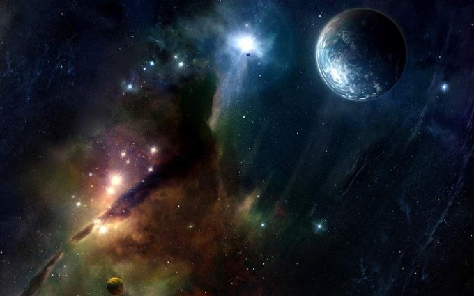 Nebula Planet Sci Fi Space Stars Desktop Background