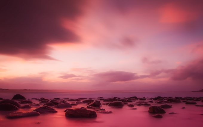 Norway Sunset Dusk Sky Clouds Panorama