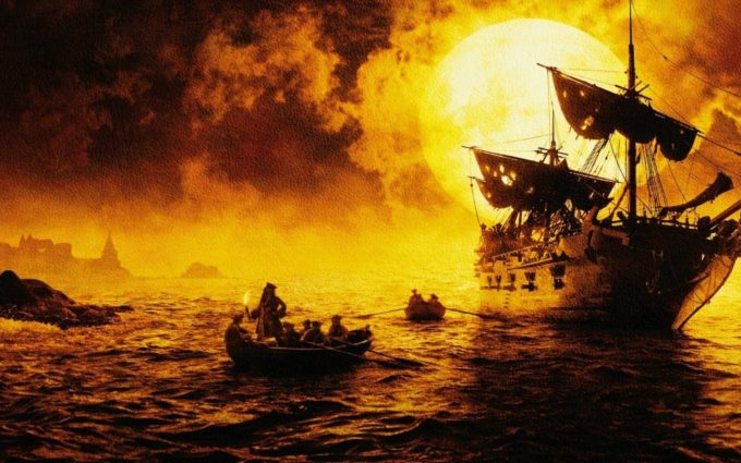 Pirates Of The Caribbean The Curse Of The Black Pearl Desktop Background