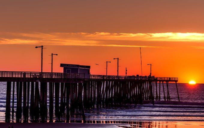 Pismo Beach California Pier Panorama