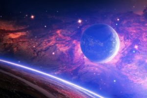 Planet Light Spots Space Desktop Background