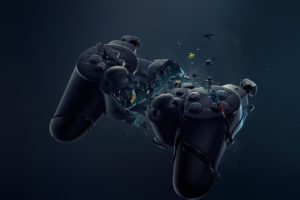 Playstation Game Pad Crash Desktop Background