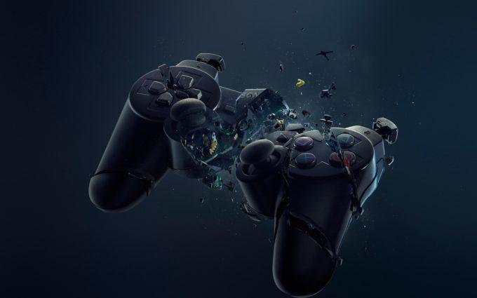 Playstation Game Pad Crash Desktop Background