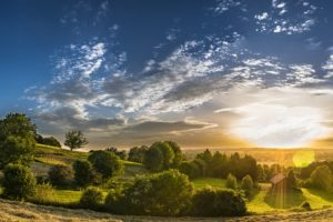 Rural Landscape Agriculture Meadow Panorama