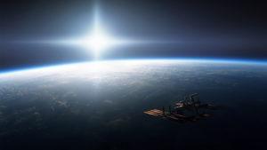 Satelite Space Desktop Background
