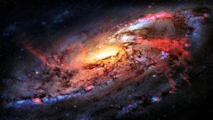 Space Flight Sky Stars Desktop Background
