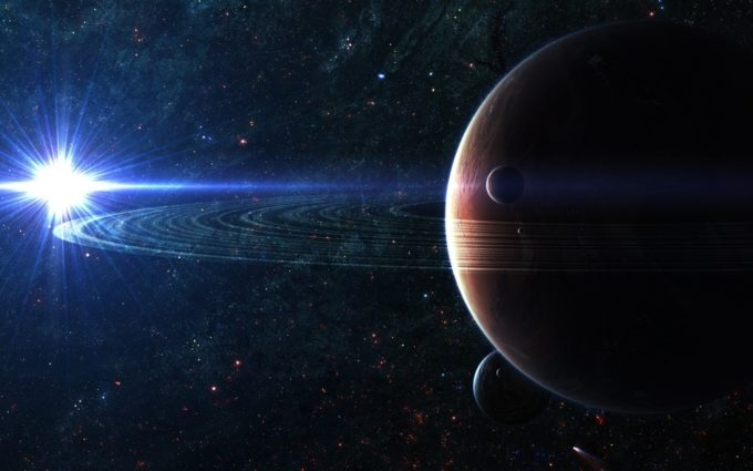 Space Planet Sky Desktop Background