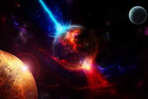 Space Planets Takeoff Explosion Desktop Background