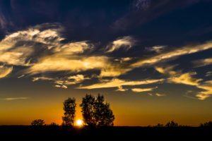 Sunset Sky Abendstimmung Panorama