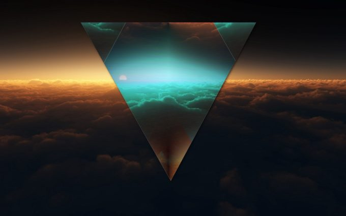 Triangle Shape Dark Figure Desktop Background