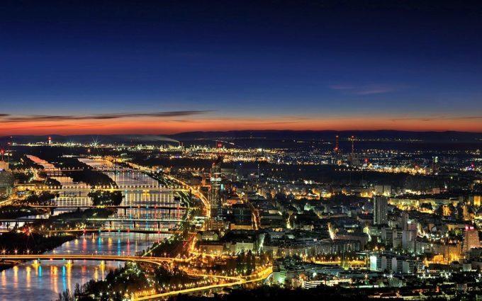 Vienna Night Panorama