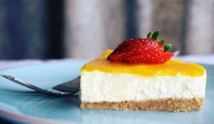 Cheese Cake With Strawberry Fruit Desktop Wallpapers
