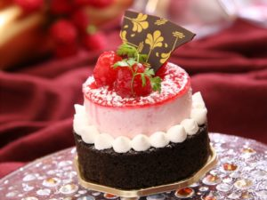 Chocolate Cake With White Icing and Strawberry on Top With Chocolate Desktop Wallpapers