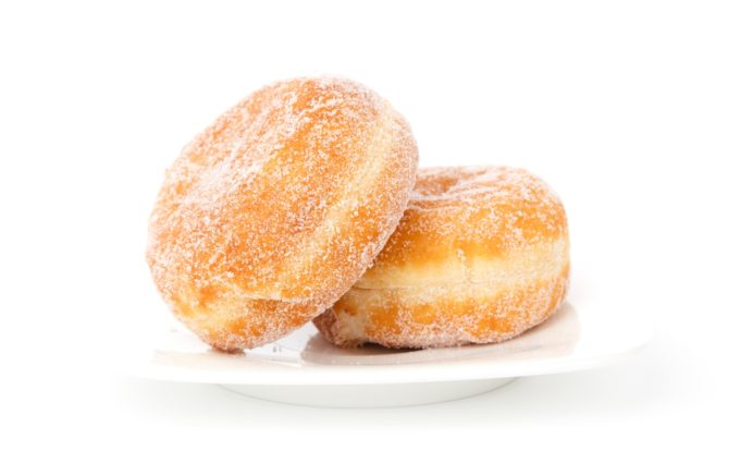 Two Creme Filled Donuts Desktop Wallpapers