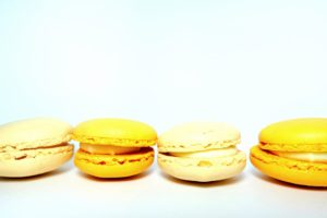 Yellow Macaroons Desktop Wallpapers
