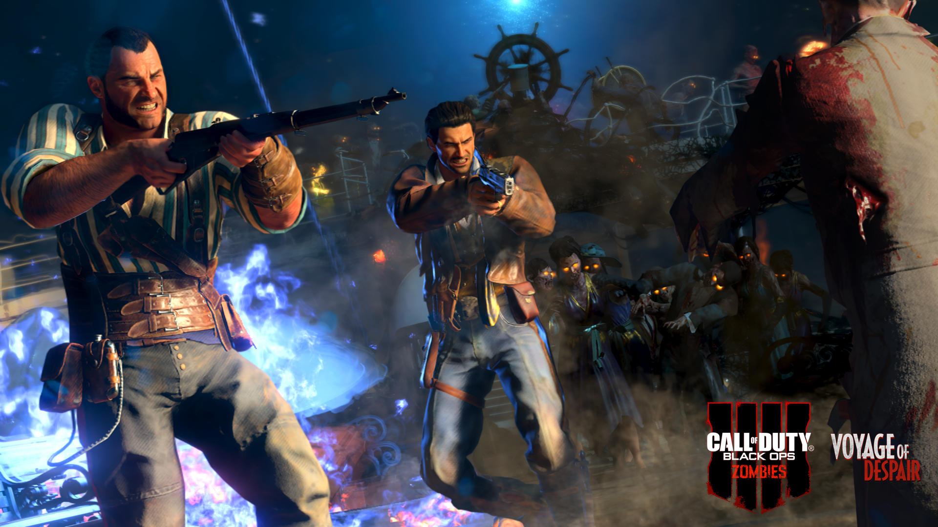 Call Of Duty Black Ops 4 Zombies Shooting Desktop Wallpapers