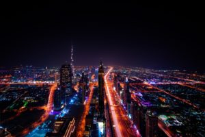 Dubai Skyscraper City Lights Cityscape Emirates Desktop Wallpapers