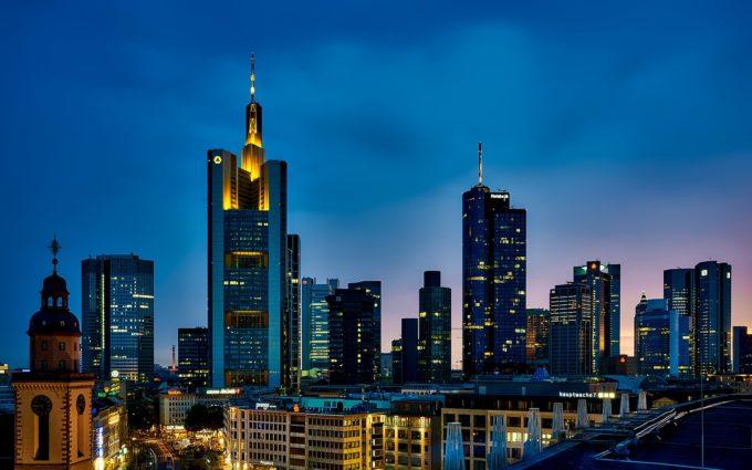 Frankfurt Germany City Urban Skyline Desktop Wallpapers