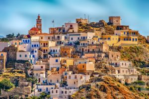 Greece Village Karpathos Hill Desktop Wallpapers