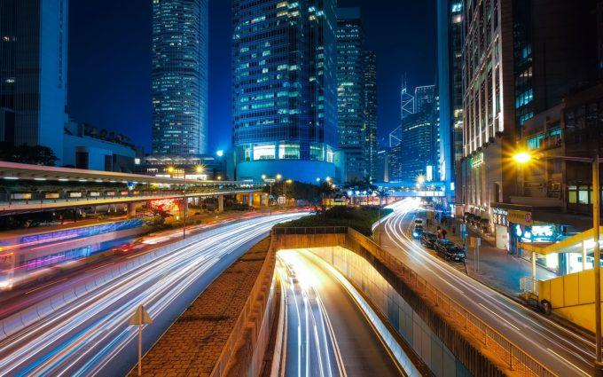 Hong Kong City Urban Skyscrapers Buildings Modern Desktop Wallpapers