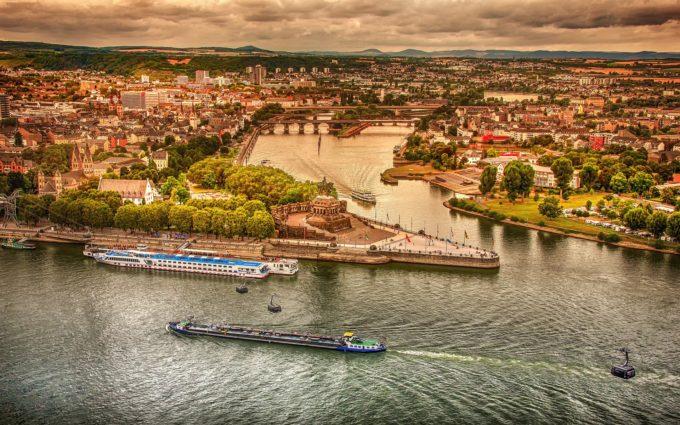 Koblenz German Corner Landscape Desktop Wallpapers