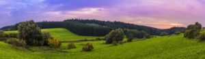 Landscape Bavaria Sunset Panorama Desktop Wallpapers