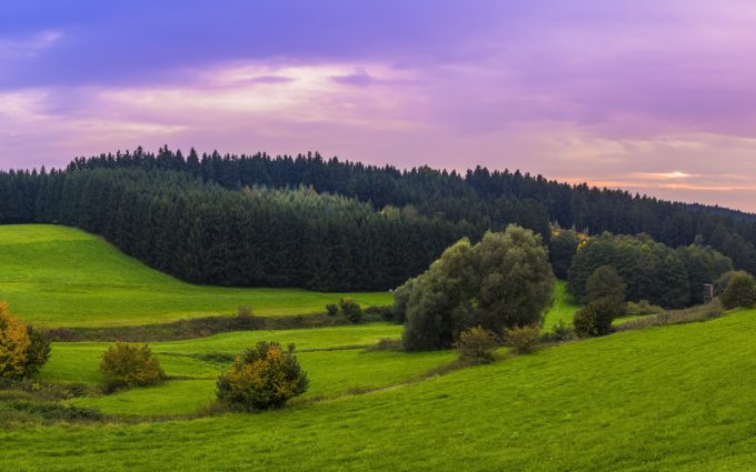 Landscape Bavaria Sunset Panorama Desktop Wallpapers