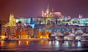 Prague Winter Night Czech Republic Desktop Wallpapers