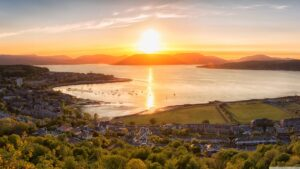 Sunset On Gourock Town Scotland Wallpaper