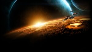 Starcraft Planet Sun Earth Space Wallpaper Background