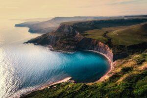Aerial View Beach Beautiful Cliff Desktop Wallpapers