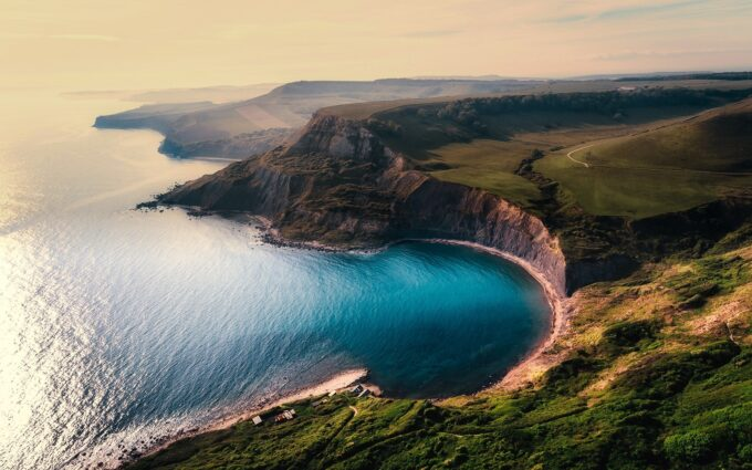 Aerial View Beach Beautiful Cliff Desktop Wallpapers