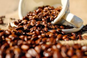 Coffee Beans on White Ceramic Cup Desktop Wallpapers