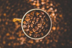 Mug of Coffee Beans Desktop Wallpapers