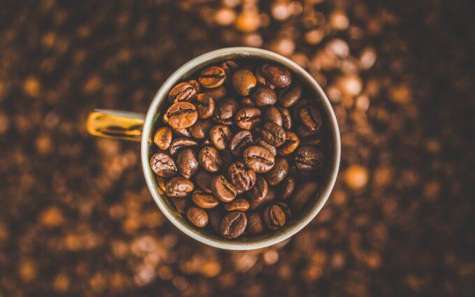 Mug of Coffee Beans Desktop Wallpapers