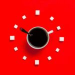Black Coffee in Stainless Steel Scoop Desktop Wallpapers